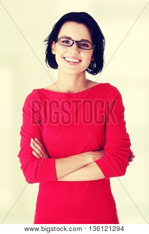 Beautiful woman in casual clothes