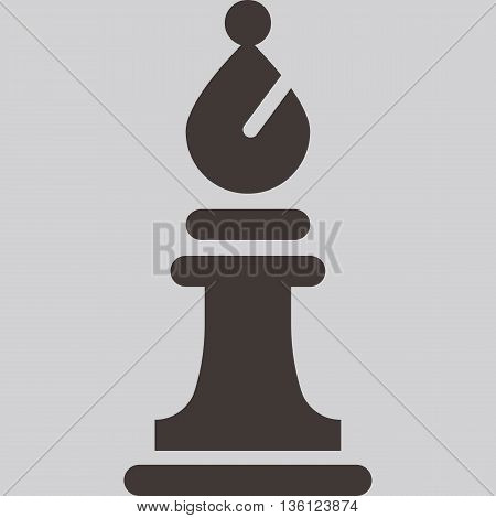 Silhouette of a chess piece - chess bishop icon
