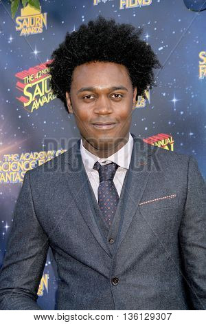 Echo Kellum arrives at the 42nd Annual Saturn Awards on Wednesday, June 22, 2016 at the Castaway Restaurant in Burbank, CA.