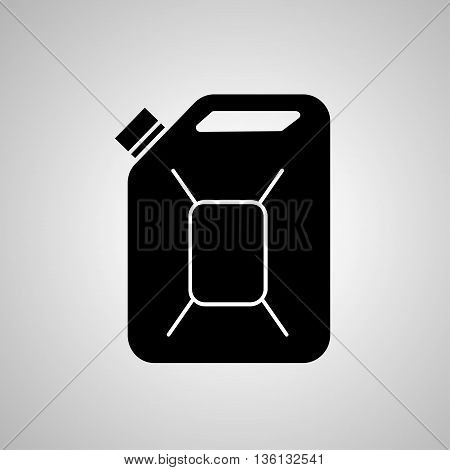 Fuel Can vector icon. Jerrycan oil. vector icon