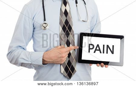 Doctor Holding Tablet - Pain