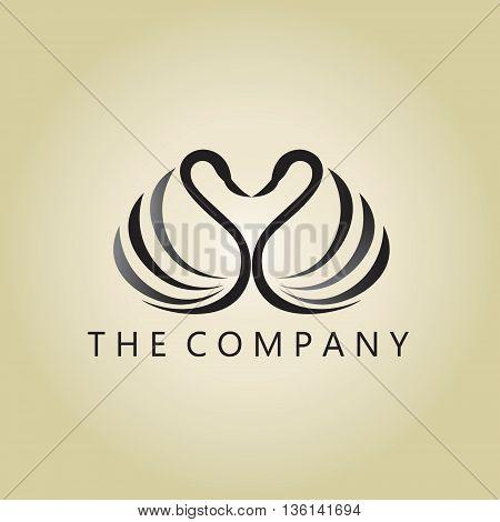 swans logo ideas design vector on background