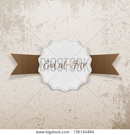 Eid al-Fitr decorative festive Emblem. Vector Illustration