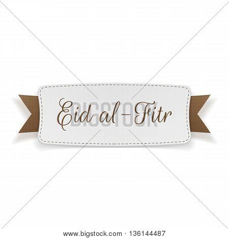 Eid al-Fitr decorative greeting Banner. Vector Illustration