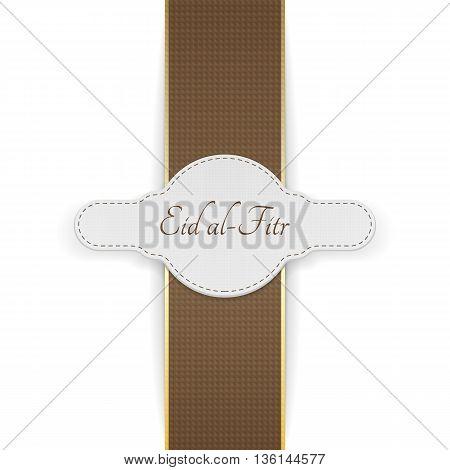 Eid al-Fitr realistic festive Banner. Vector Illustration