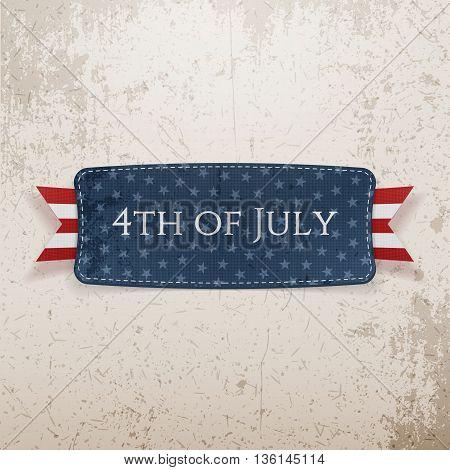 4th of July national Emblem. Vector Illustration
