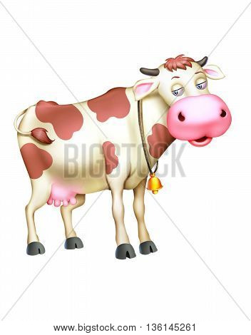 Cow Domestic animal isolated on white background