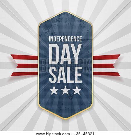 Independence Day Sale festive Badge. Vector Illustration