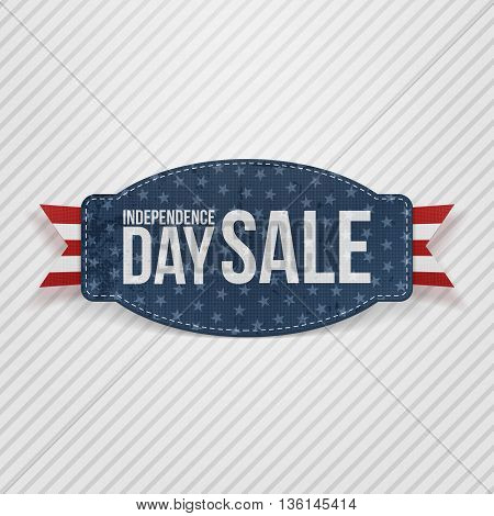 Independence Day Sale greeting Tag. Vector Illustration