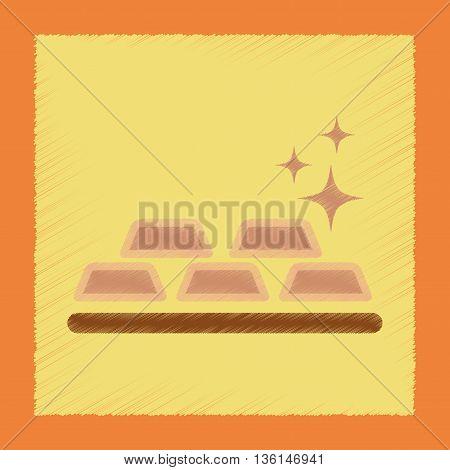 flat shading style icon poker gold bullion