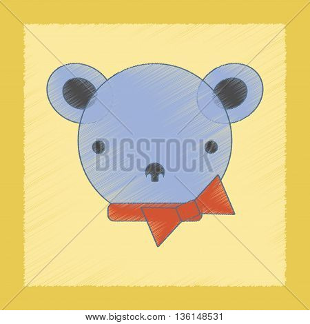 flat shading style icon Kids toy bear
