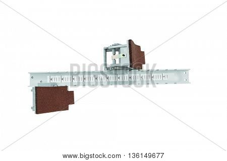 Starting block on isolated white background