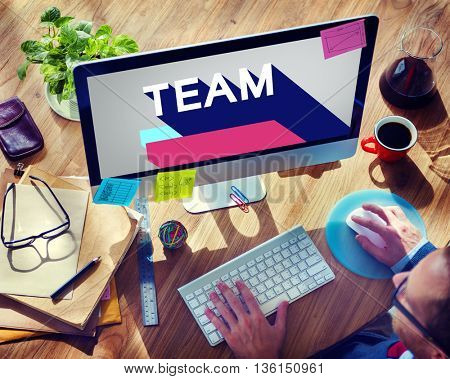 Team Collaboration Company Connection Unity Concept