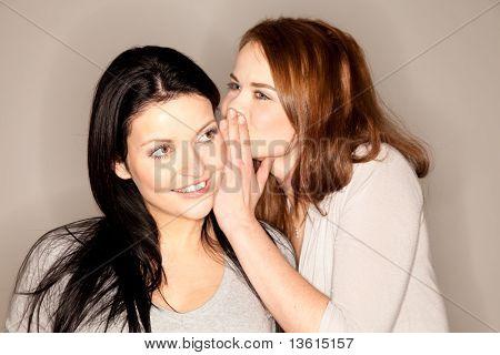 Beautiful Brunette Whispering