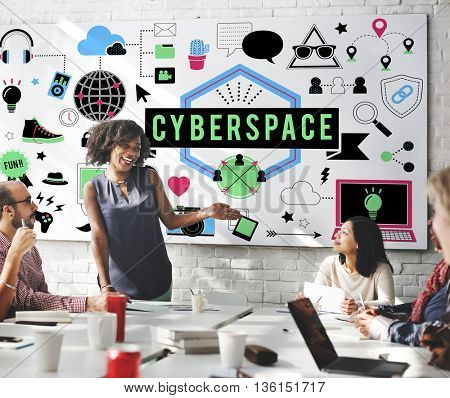 Cyberspace Globalization Connection Networking Technology Concept