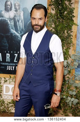 Raul Castillo at the Los Angeles premiere of 'The Legend Of Tarzan' held at the Dolby Theatre in Hollywood, USA on June 27, 2016.