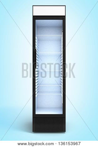 Drink Display Fridge 3D Render On Gradient