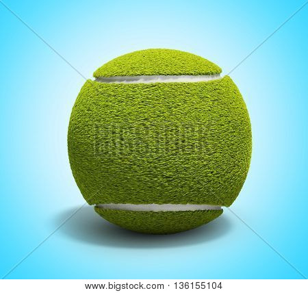 Tennis Ball 3D Render On Gradient Background Without Shadow