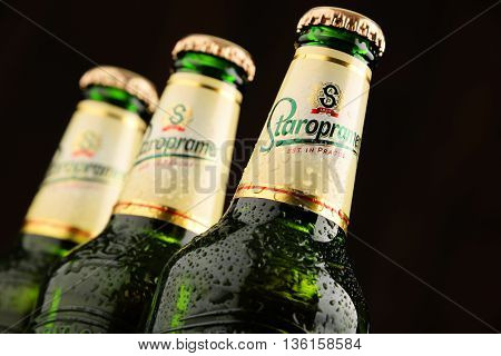 Three Bottles Of Staropramen Beer