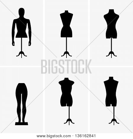 Set if six mannequins ( shade pictures )