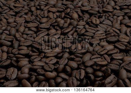 foretaste of grains of black coffee flavored drink