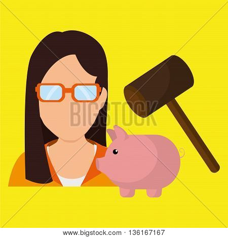 person and money concept design, vector illustration eps10 graphic