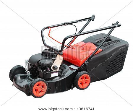 Lawnmower Over White