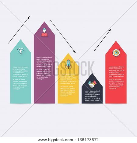 Modern Arrow Info Graphics Element.  Infographics Statistic Vector. Infographic For Presentation. Ca