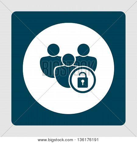 Lock Open Icon In Vector Format. Premium Quality Lock Open Symbol. Web Graphic Lock Open Sign On Blu