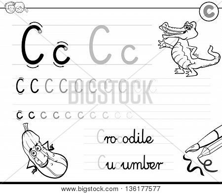 Learn To Write Letter C