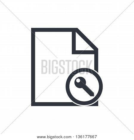 File Access Icon In Vector Format. Premium Quality File Access Symbol. Web Graphic File Access Sign