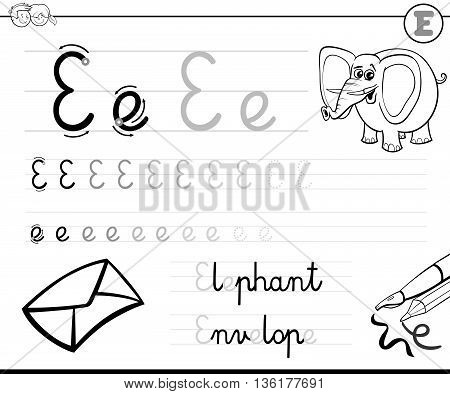 Learn To Write Letter E
