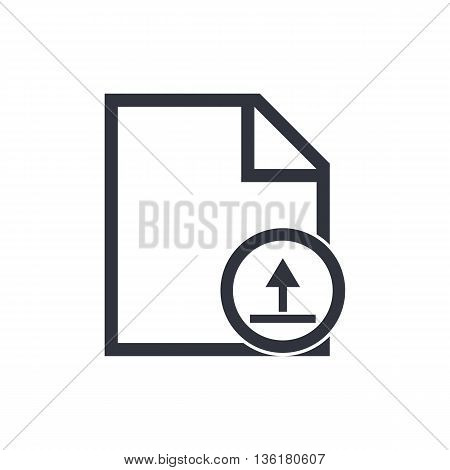 File Upload Icon In Vector Format. Premium Quality File Upload Symbol. Web Graphic File Upload Sign