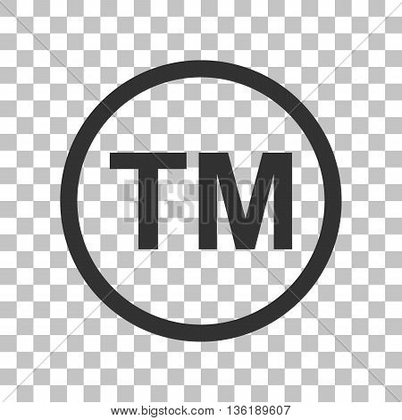 Trade mark sign. Dark gray icon on transparent background.