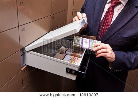 Locker in a bank vault