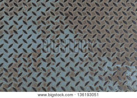 old metal diamond plate background closeup. metal, plate, steel, floor,
