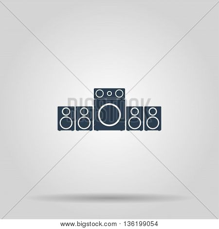 Speaker icon. Vector concept illustration for design.