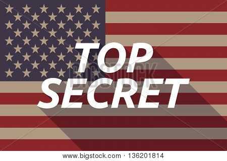 Long Shadow Usa Flag With    The Text Top Secret