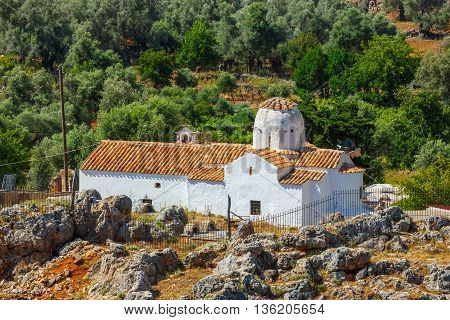 Church Of Archangel Michael Over Aradena George In Aradena, Crete