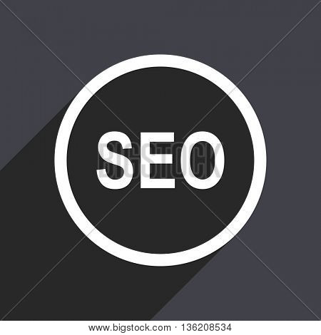 Flat design gray web seo vector icon