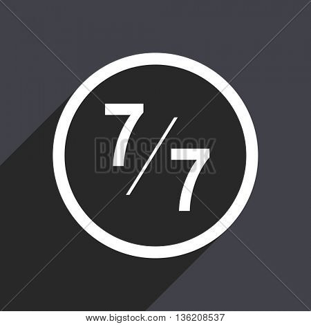 Flat design gray web 7 vector icon