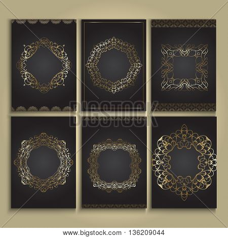 Decorative backgrounds in gold and black