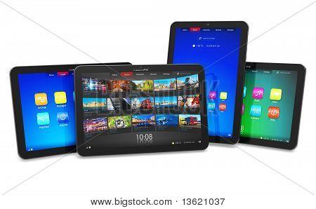 Satz von Tablet PCs
