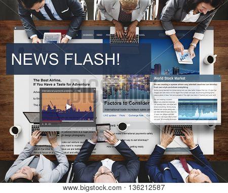 Update Trends Report News Flash Concept