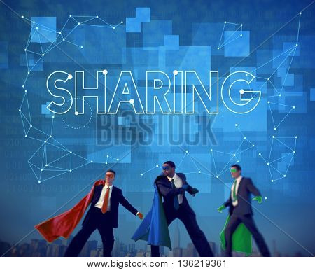 Sharing Communication Link Networking Connect Concept