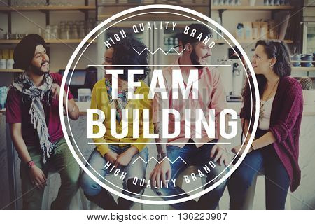 Team Team up Collaborate Interact Socialize Concept