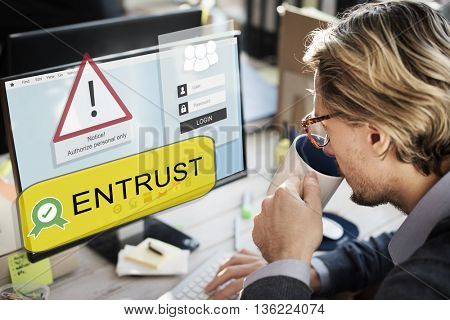 Entrust Computer Screen Concept