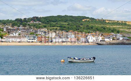 Beautiful town Lyme Regis in Dorset England
