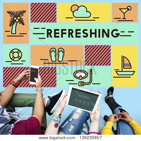 Refreshing Refreshment Renew Rethink Restart Concept