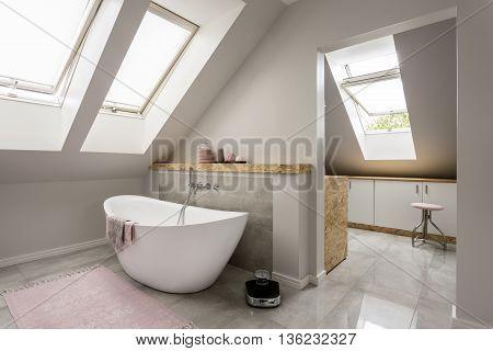 Relaxing Spa Bathroom In New Villa